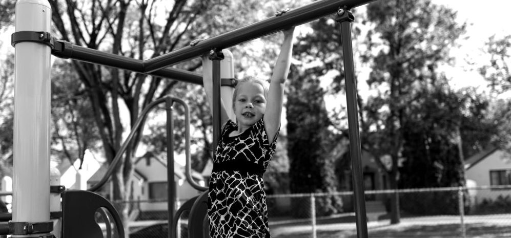 girl on playground
